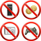 Verbot-Zeichen - Set drei Stockbilder