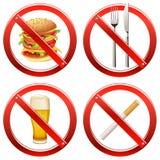 Verbot-Zeichen - Set zwei Lizenzfreie Stockbilder