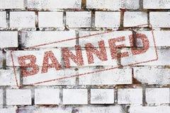 Verboten lizenzfreie abbildung