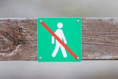 Verboten, um hierhin zu gehen - Island Stockfoto