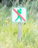 Verboten, um hierhin zu gehen - Island Lizenzfreie Stockfotografie