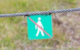 Verboten, um hierhin zu gehen - Island Lizenzfreie Stockfotos
