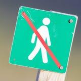 Verboten, um hierhin zu gehen - Island Stockfotografie