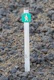 Verboten, um hierhin zu gehen - Island Lizenzfreies Stockfoto