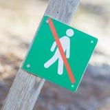 Verboten, um hierhin zu gehen - Island Stockbild