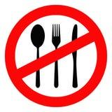 Verboten, um zu essen Lizenzfreies Stockfoto