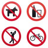 Verbotene Aktivitäten Lizenzfreies Stockbild