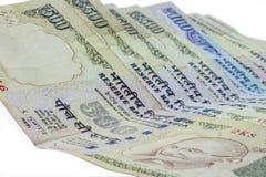 Verbotene indische Währung? 500-Rupien-Anmerkungen stockfotografie