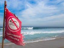 Verbotene schwimmende Flagge Stockfoto
