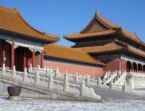 Verbotene Stadt panoramisch, Peking, China Stockfotos