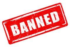Verbotener Stempel stock abbildung