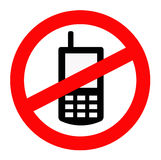Verbotenes Mobile Lizenzfreie Stockfotografie