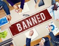 Verbotenes verweigertes gesunkenes negatives Stempel-Konzept Lizenzfreie Stockfotos