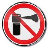 Verbotszeichen für Pfefferspray lizenzfreie abbildung