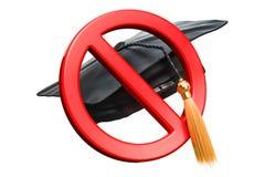 Verbotszeichen mit Staffelungskappe, Wiedergabe 3D Stockfotografie