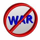 Verbotszeichen mit Wortkrieg Stockfoto
