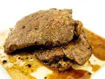 Verbranntes ribeye Steak Lizenzfreies Stockfoto