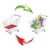 Verbrauch und Einkaufen symbolisiert Stockfotografie