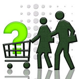 Verbraucher-Korb Stockfotos