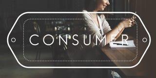Verbraucher-Kundendienst-Zufriedenheits-Käufer-Konzept stockfotografie
