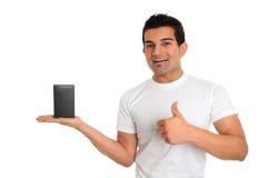 Verbraucher oder Verkäufer mit Produkt lizenzfreie stockfotografie