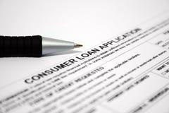 Verbrauchers-Darlehenanwendung Lizenzfreies Stockfoto