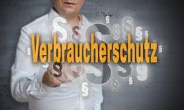 Verbraucherschutz en párrafos alemanes de la protección al consumidor es fotos de archivo