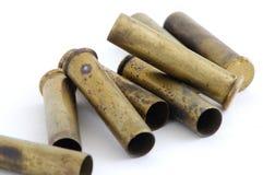 Verbrauchte 22 Magnumgehäuse Stockbild