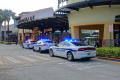 Verbrechen an den Mallen Stockfotos