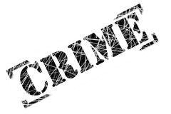 Verbrechen-Stempel Stockfotos