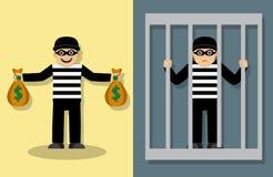 Verbrechen und Bestrafung Stockbild