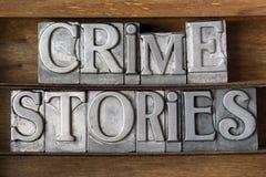 Verbrechengeschichten Stockfoto