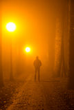 Verbrecher im Nebel Stockfotos