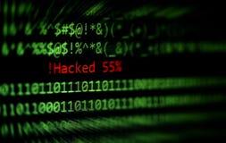 Verbrecherinternet-Tätigkeit oder Cyberdiebsicherheit, die Konzept zerhackt lizenzfreie stockfotografie
