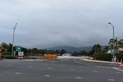 Verbreiterungsprojekt der Landstraße 101 durch Carpinteria, Kalifornien, 5 stockfotografie