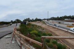 Verbreiterungsprojekt der Landstraße 101 durch Carpinteria, Kalifornien, 6 stockfotos