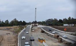 Verbreiterungsprojekt der Landstraße 101 durch Carpinteria, Kalifornien, 9 stockbild