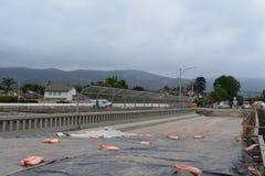 Verbreiterungsprojekt der Landstraße 101 durch Carpinteria, Kalifornien, 12 lizenzfreies stockbild