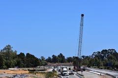 Verbreiterungsprojekt der Landstraße 101 durch Carpinteria, Kalifornien, 17 lizenzfreie stockfotos