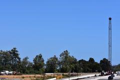 Verbreiterungsprojekt der Landstraße 101 durch Carpinteria, Kalifornien, 19 lizenzfreie stockfotos