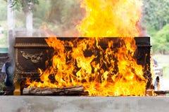 Verbrennung am Friedhof Lizenzfreies Stockbild