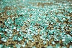 Verbrijzeld Glas Stock Foto