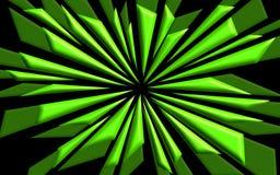 Verbrijzelde Vormen in Groen - Grafisch Behang stock illustratie
