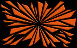 Verbrijzelde Vormen in Sinaasappel - Grafisch Behang royalty-vrije illustratie