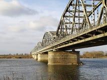 Överbrygga över floden Vistula Royaltyfri Bild