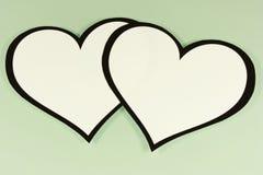 Verbundene Herzen Stockfoto