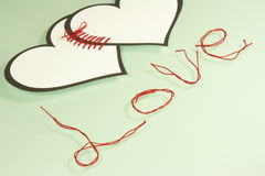Verbundene Herzen Lizenzfreies Stockbild