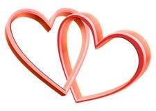 Verbundene Herzen Stockfotografie