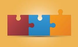 Verbundene Laubsäge, Puzzlespiel Lizenzfreie Stockfotos