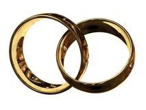 Verbundene Ringe, Foto-Realismus lizenzfreie abbildung